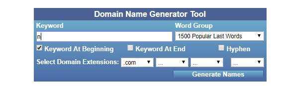 Top 10 best domain name generator tools - Its our in India's Pride
