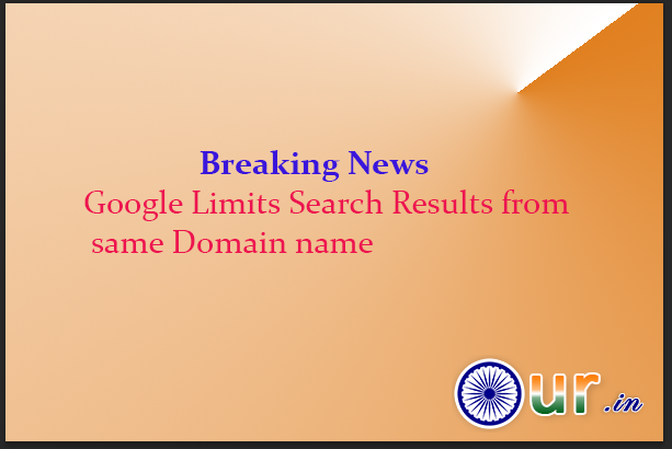 Google limits search results from same domain name